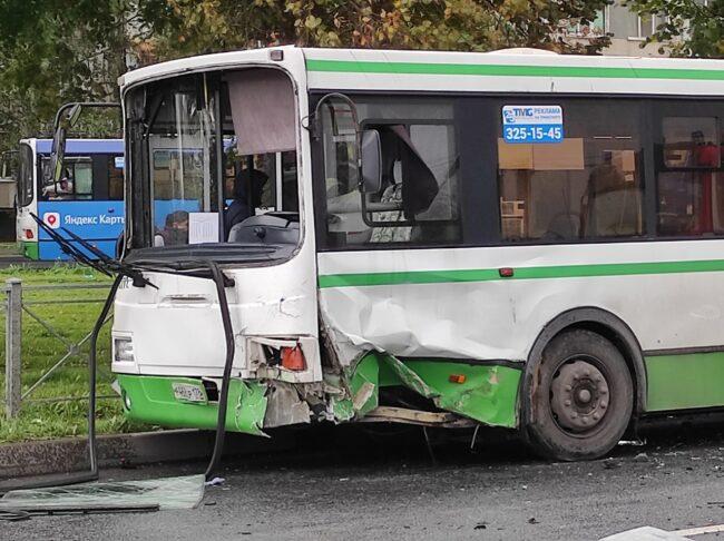 дтп, автобус, заводской проспект, колпино