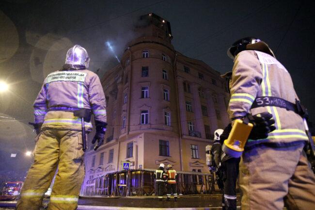 пожар в доме Чубакова, пожарные